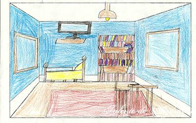 Cameră desenată în perspectivă