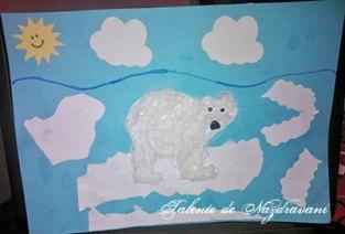 Colaj cu urs polar