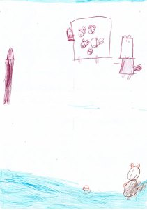 "Alexandra J., Focșani, 4 ani: Scena preferata : ""O vulpe mananca pestii. S-a bagat in caruta si a furat toti pestii si a ajuns taranul acasa la nevasta lui si nu a adus vulpea ca a uitat-o, si nu a facut o gecuta de blana. Si am colorat-o singura"" Scena care i-a placut mai putin: ""Ursuletul a bagat coada in apa sa prinda un peste dar i-a cazut coada si s-a dus submarin ca un pestisor, dar tot nu a prins nici un peste, ca a ratat.Si i-a cazut coada si nu mai putea sa prinda pestisorii, si am desenat-o singurica."""