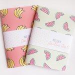 banane et pastèque carnet banana watermelon notebook