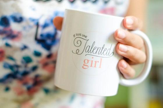 boutique je suis une talented girl talented girls mug totebag personnalisés_2
