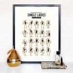 cadeaux noel talented girls poster single ladies beyoncé