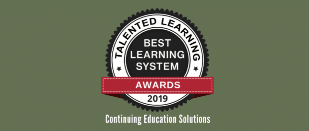 What are the best continuing education systems for 2019? Find out who won LMS vendor awards from Talented Learning!