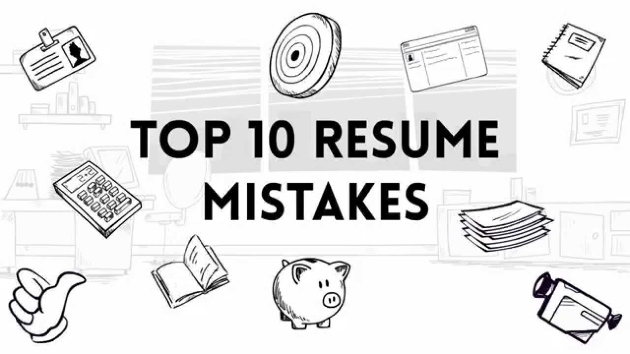 Resume Mistakes Top 10 Mistakes To Avoid While Writing A Resume