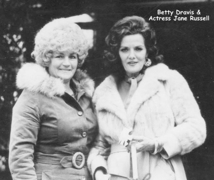 Betty Dravis with Jane Russell