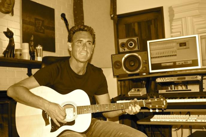 Martin Page in studio