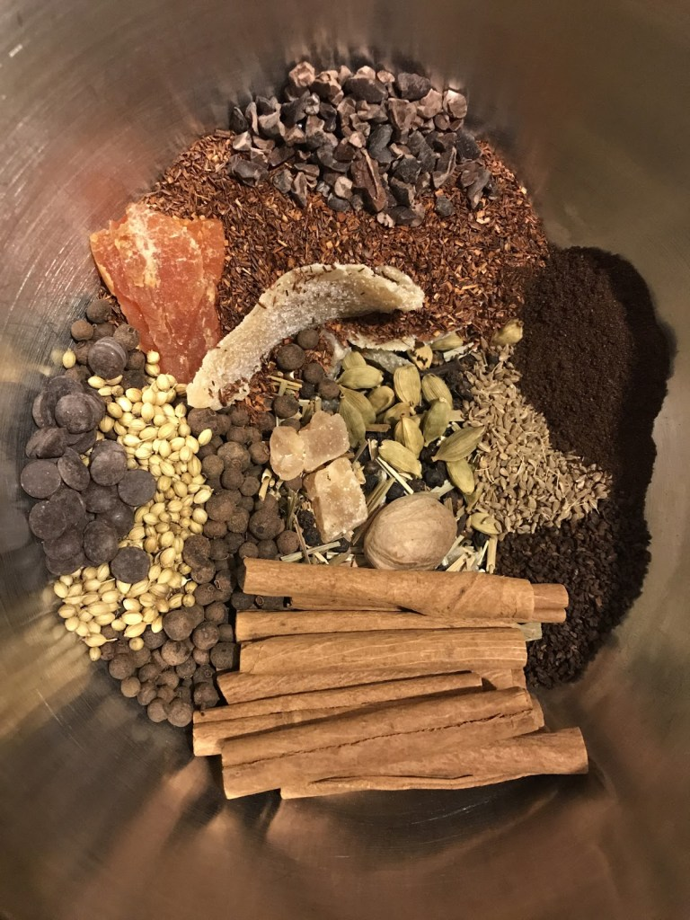 Decaf Masala Chai raw ingredients before being ground in VitaMix
