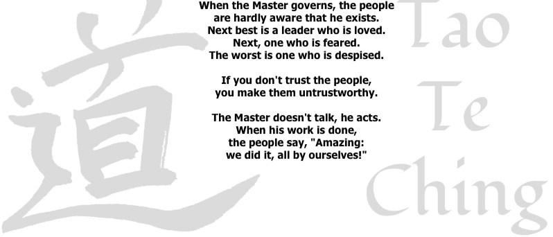 Talent Whisperers - Dao te Ching 17