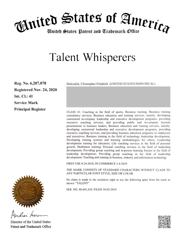 Talent Whisperers® is a Registered Trademark