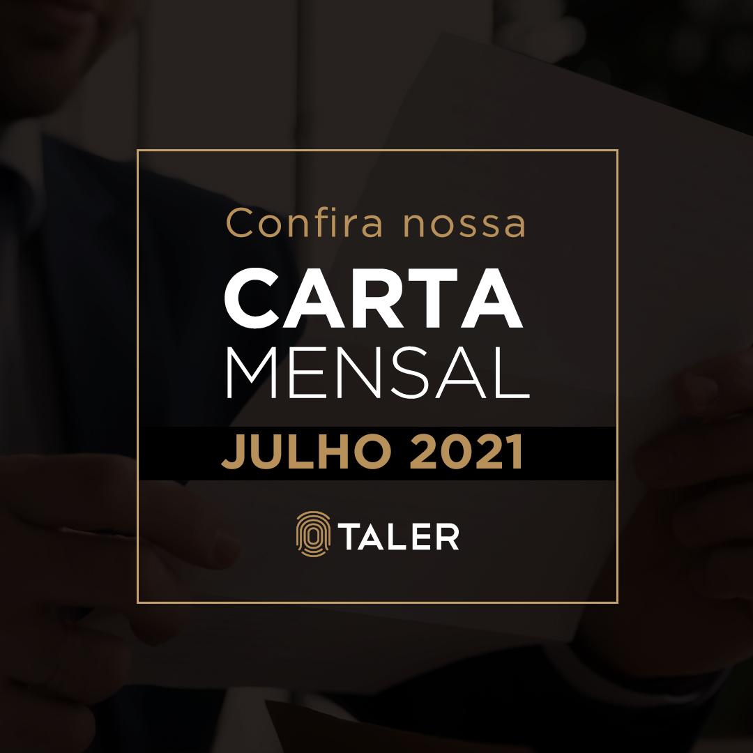 Carta Mensal – Julho 2021