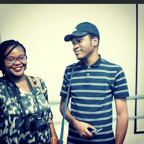 With Tochukwu at an exhibition.