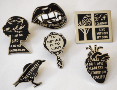 Best Gifts for Book Lovers Gothic Pins