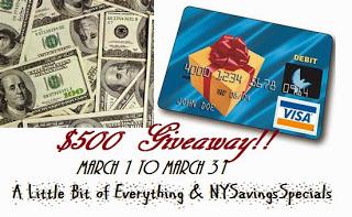 $500 Giveaway NY
