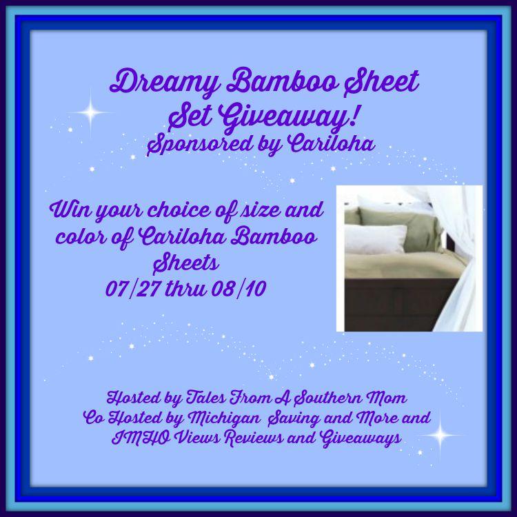 Dreamy Bamboo Sheet Set Giveaway!