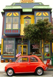 Love the colorful buildings in the little town.
