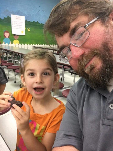 Donuts with dad at the school