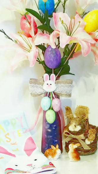 Easter crafts vase