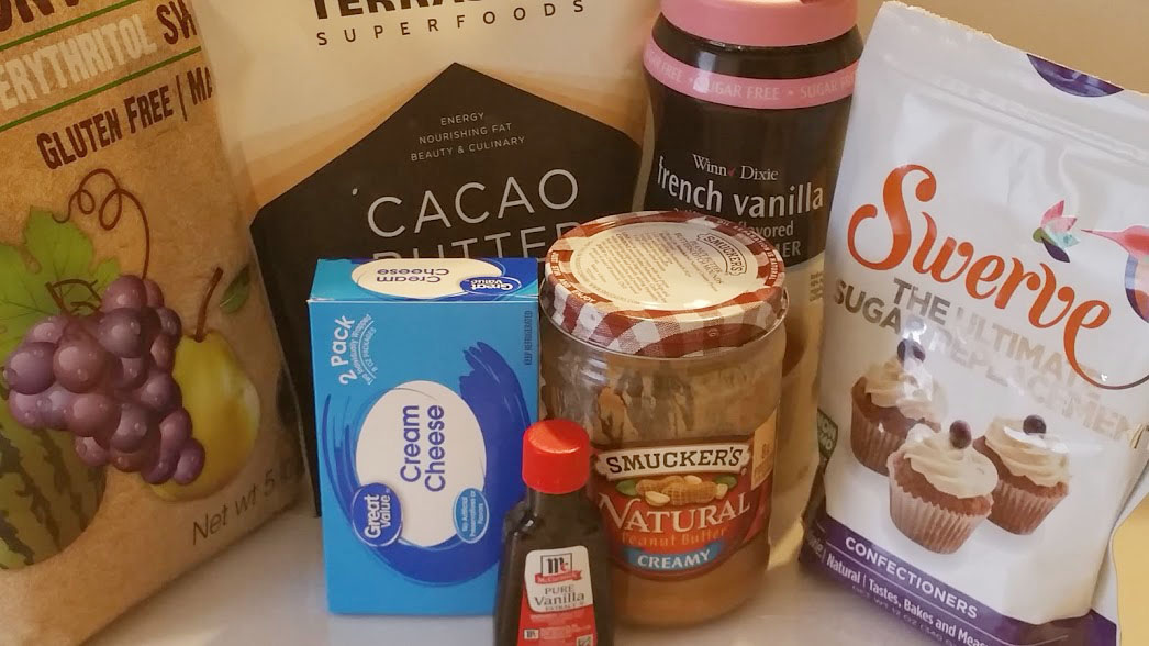 Ingredients for Cream cheese peanut butter balls