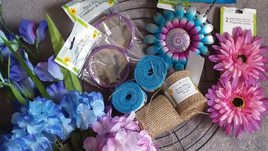 DIy Spring wreath supplies