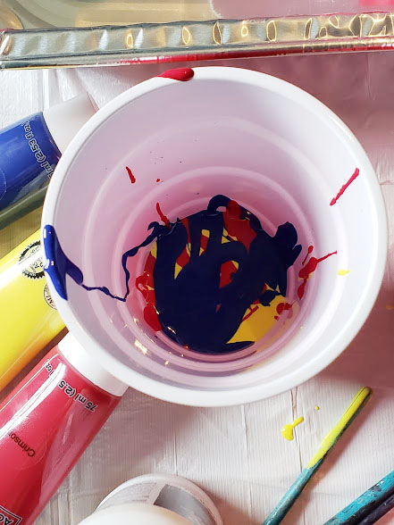 acrylic pouring color cup