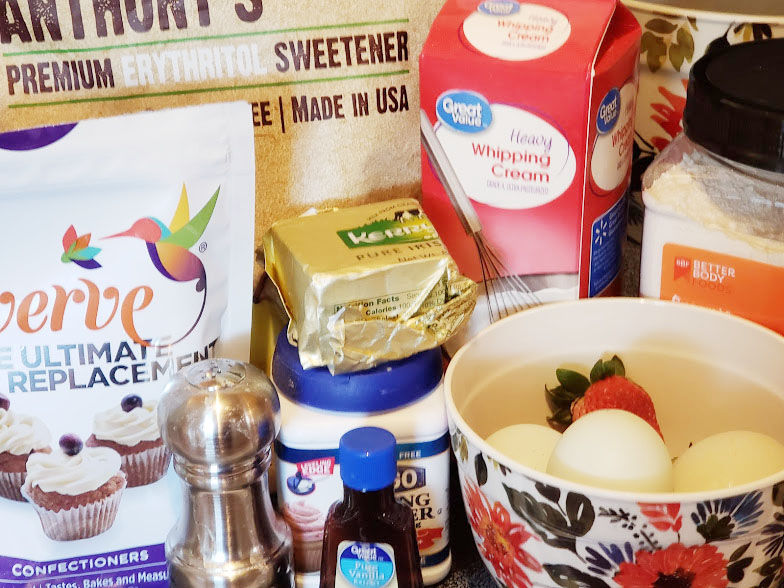 Keto Strawberry shortcake Ingredients