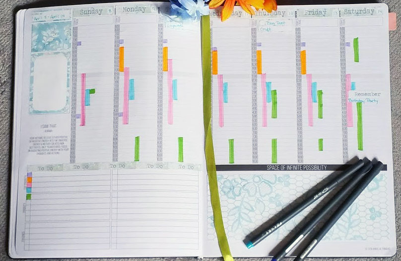 tools for bullet journaling weekly
