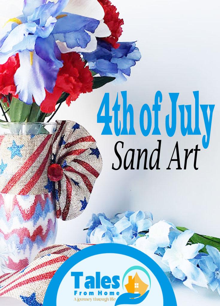 4th of July Sand Art #art #dollarstore #dollartree #sandart #crafting