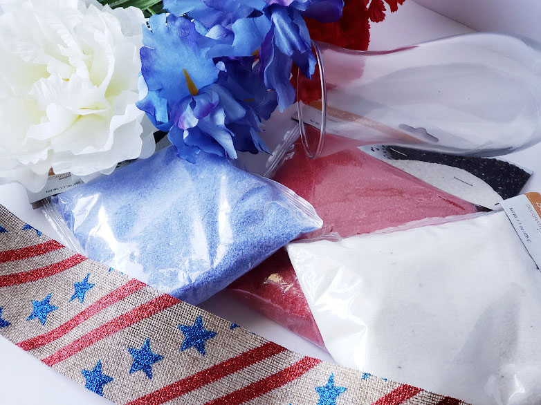 4th of July Sand Art supplies