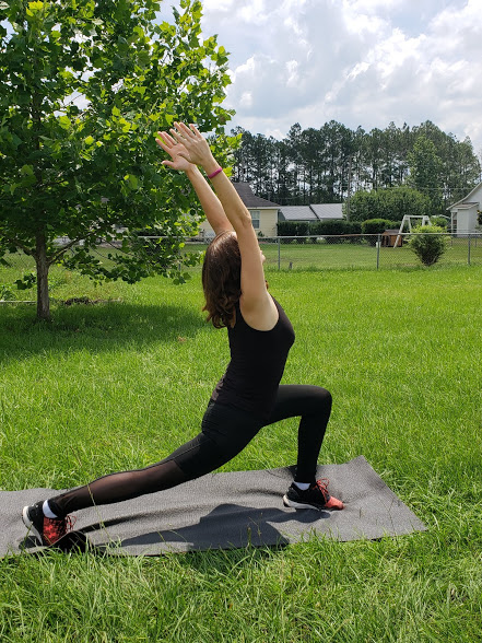 Lower Body Yoga poses for runners - leaning crescent pose