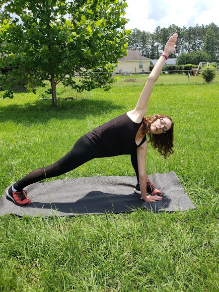 Lower body yoga poses for runners - side angle pose