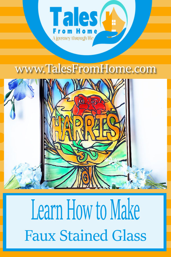 Learn how to make Faux Stained glass #stainedglass #art #crafting #fun #family #artsandcrafts #painting #staining