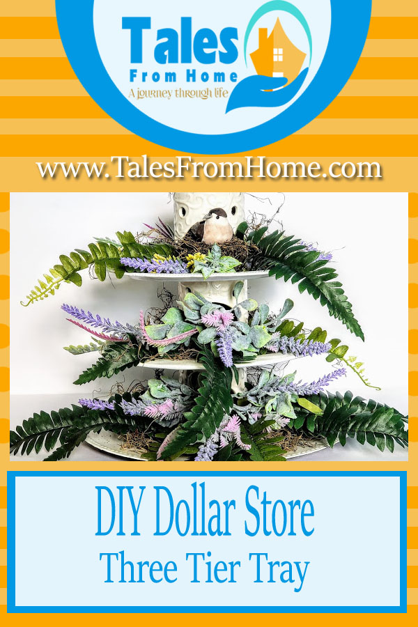 DIY Dollar Store three tier tray #crafts #art #artsadcrafts #dollarstore #tieredtray #3tiertray