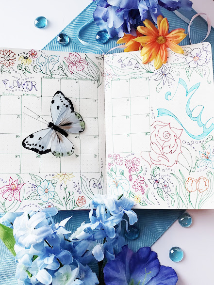 bullet journal themes - may