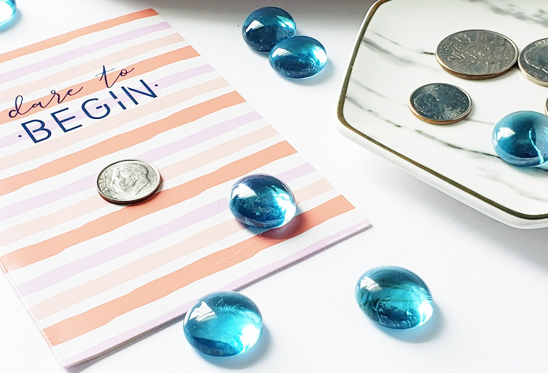 Credit Score Myths you need to know about, decorative card and gems
