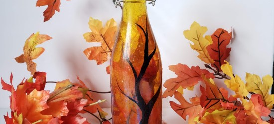 Fall Dollar Store Craft - Putting autumn in a bottle