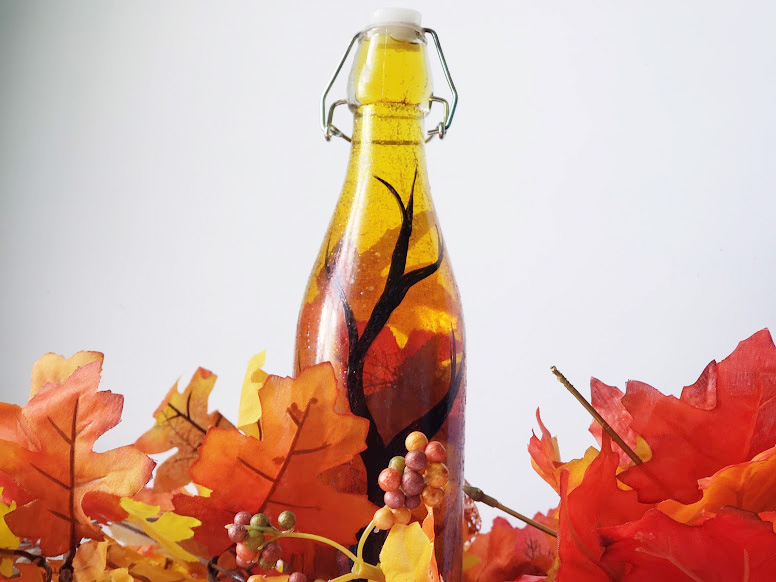 Dollar Store Fall Craft - Autumn in a bottle