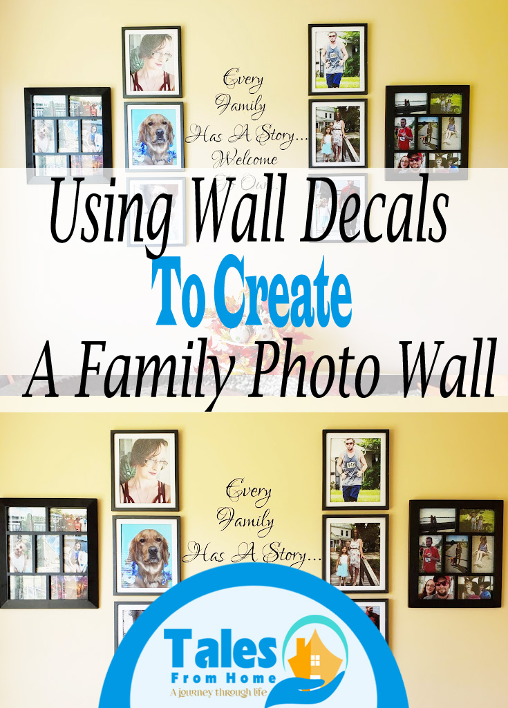 Walls Decals for a family photo wall #photo #walldecal #homedecor #Photowall #family