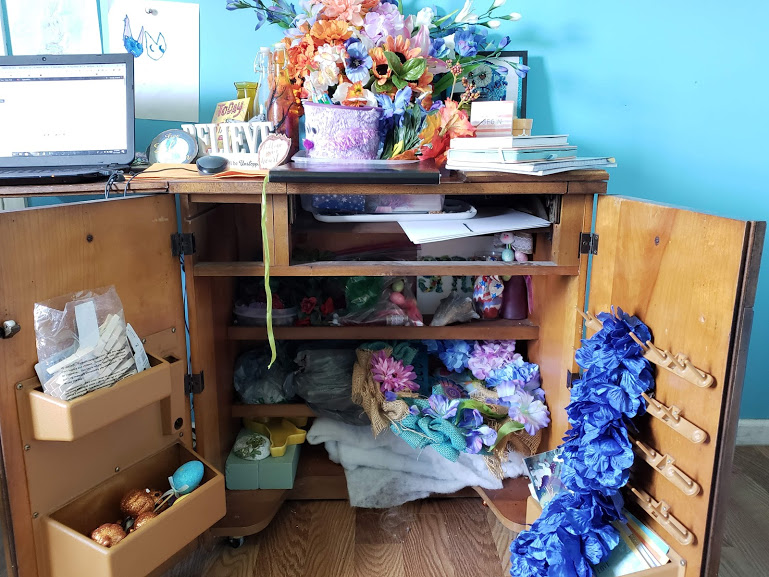 comfortable workspace organized