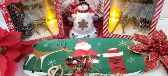 Dollar Tree Christmas Decorations, a Reindeer Diorama