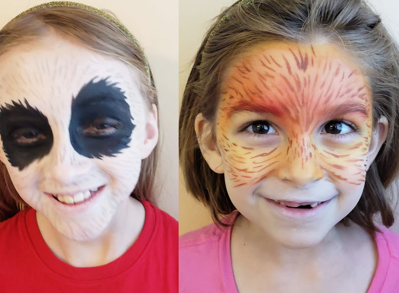 face painting tips, adding on some of the details