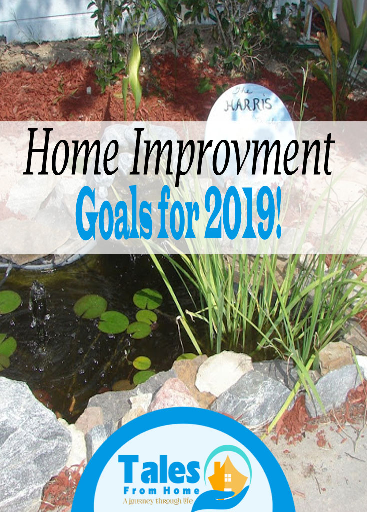 Home Improvement goals for 2019! #Goals #2019 #homeimprovement #homedecor #DIY