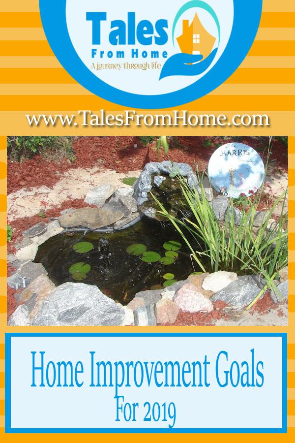 Home Improvement goals for 2019! #Goals #2019 #homeimprovement #homedecor #DIY