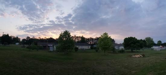 home improvment goals for 2019, sunset on the backyard