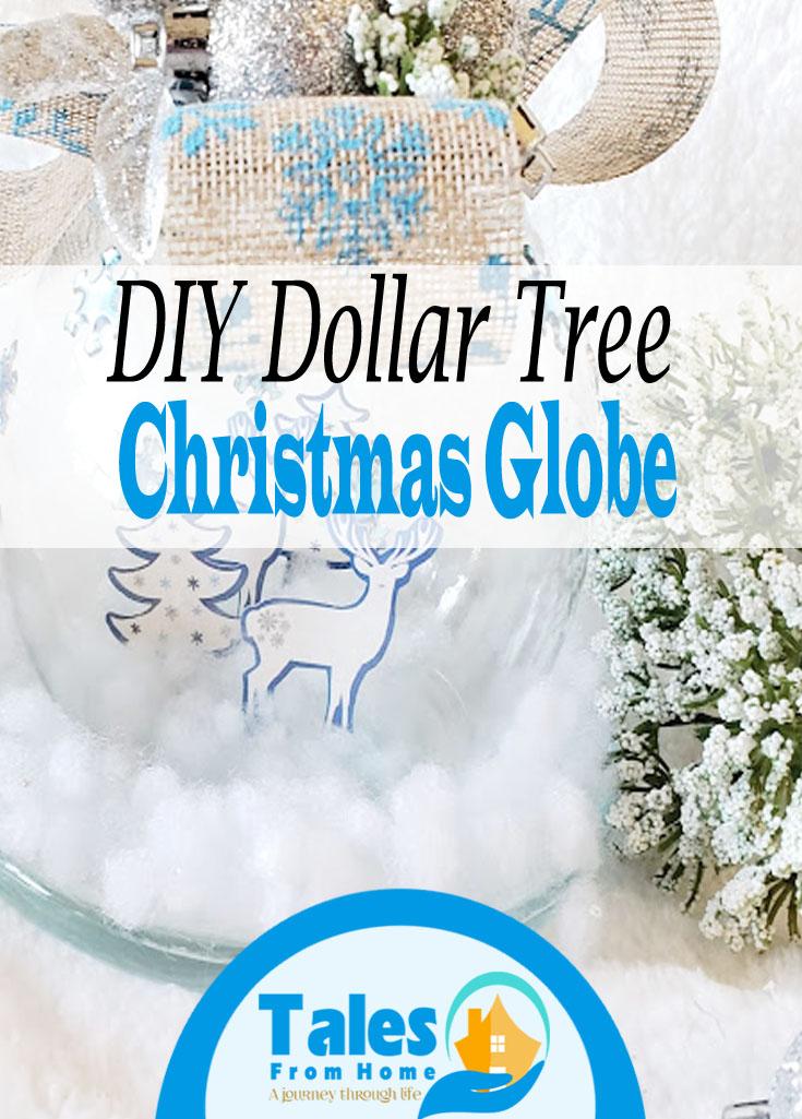 A DIY Dollar Tree Christmas Globe #christmas #christmascrafts #cristmasdecor #DIYChristmas #DIY #DIYdecor #DollartreeChristmas