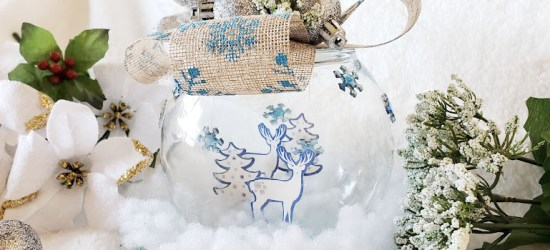 DIY Dollar Tree Christmas Globe