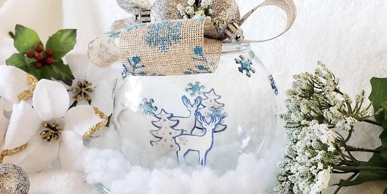 DIY Dollar Tree Christmas Globe