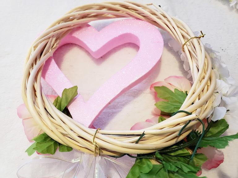 diy valentines day wreath adding florals