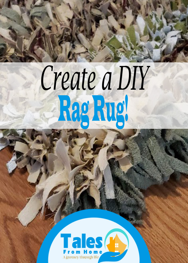 DIY Rag Rug A simple fun project! #DIY #Rug #Crafts #arts #DIYDecor #Homedecor