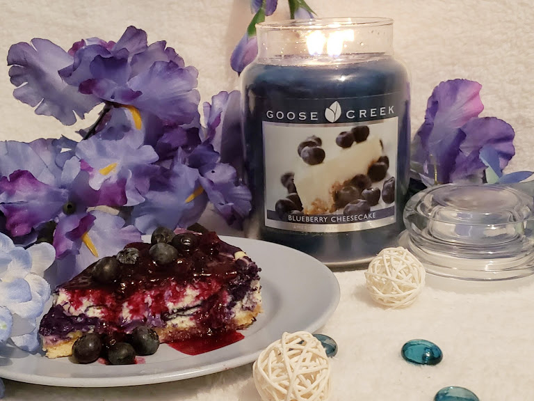 Scented Candles from Goose Creek Candles, Blueberry Cheesecake