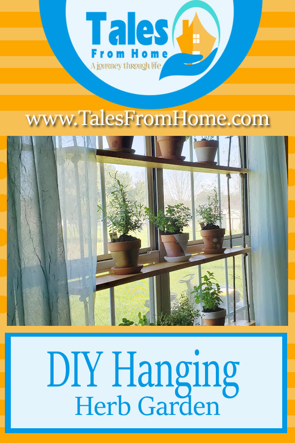A simple DIY Hanging Herb Garden to bring some beauty and life to your home decor! #Gardening #homedecor #homedecoration #DIY #simplediy #herbs #herbgarden #funproject #springproject